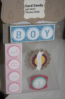 Heikes Kreativseite Candy Cards, Scrapbooks, Ideas Para, Baby Boy, Mini, Frame, Decor, Creative, Picture Frame