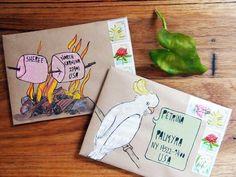 calm-6.jpg Mail Art Envelopes, Addressing Envelopes, Diy Envelope, Envelope Design, Journal Artistique, Letter Writing, Letter Art, Pen Pal Letters, Fun Mail