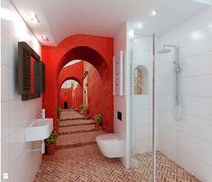 łazienka z fototapetą - zdjęcie od Archomega Biuro Architektoniczne - Łazienka - Styl Nowoczesny - Archomega Biuro Architektoniczne