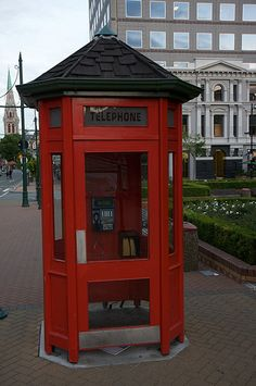 Phone booth, South Island, New Zealand by pluckytree, via Flickr.
