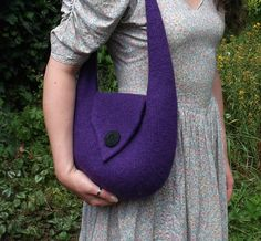 "Ravelry: ""Bridget"" Felt Shoulder Bag pattern by Claire Louise"