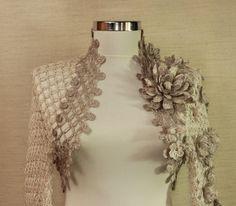 Crochet Champagne Shrug/Bolero