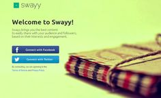 Discover the most engaging content to share on social media with Swayy   Social Media, Software, Web on End of Line Magazine