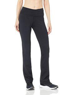 ebc275f5fbede1 Amazon Essentials Women's Studio Sculpt Slim Bootcut Yoga Pant, Black,  Medium