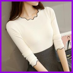 2017 Autumn Winter Women Clothes knitting Sweaters Pullpvers Undershirts Woman's thin tight slim Sexy Simple Bottoming shirt