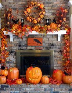 halloween decorating ideas | Great_ Halloween_ Fireplace_ Mantel_ Decorating_ Ideas__14