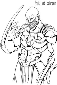 7 Exciting Mortal Kombat Coloring Pages Images