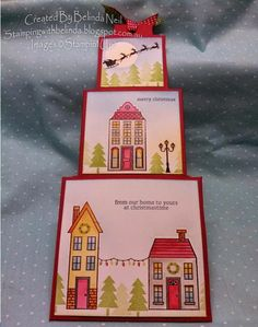 Stampin' it up with Belinda: Three Tier Slider Card