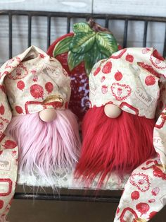 The gnomes are busy making masks! Valentine Crafts, Holiday Crafts, Crafts To Make, Diy Crafts, Round Hat, Christmas Gnome, Valentines Day Decorations, Succulent Planters, Hanging Planters