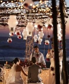 Beach Wedding Decorations - maybe anywhere decorations? - Click image to find more weddings posts