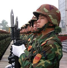 We have long warned that Unrestricted Warfare was underway and that its initial attack would be on our markets and finance. This was the strategy outlined in 1999 by two Senior Colonels in a book published by PLA Press, the […] Military Guns, Military Art, Military Uniforms, China, Mao Zedong, Famous Veterans, Patriotic Pictures, People's Liberation Army, Honor Guard