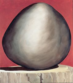 Georgia O'Keeffe, Black Rock on Red, 1971, Oil on canvas, 30 x 26 inches, Gift of the Burnett Foundation and the Georgia O'Keeffe Foundation, ©Georgia O'Keeffe Museum