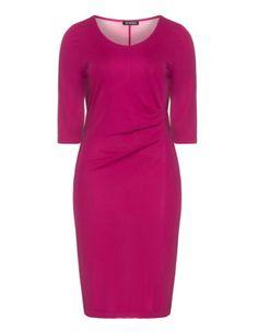 Draped dress by Verpass. Shop now: http://www.navabi.us/dresses-verpass-draped-dress-pink-17763-9000.html?utm_source=pinterest&utm_medium=social-media&utm_campaign=pin-it