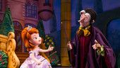 Princess Sofia and sorcerer Mr. Cedric casting a spell on stage at Disney Junior Live on Stage!