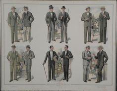 1920s mens clothing   Vintage Advertising Art Prints Mens Fashion NY 1920s- : Lot 60139