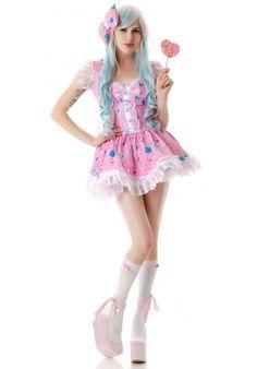 Lip Service Candy Lolita Dress   Dolls Kill