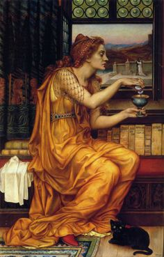 Evelyn de Morgan (c1850-1919)  The Love Potion  Oil on canvas    Public collection