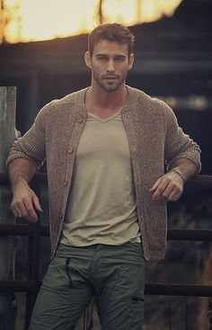 Great men's #casual outfit. Love the textures and color combination here. #mens…