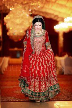 Pakistani bridal dress . Red dress