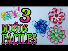 DIY: MOÑOS Y DECORACIONES/ MOÑOS CON CINTAS FÁCILES/ Peinados Rakel 2 - YouTube
