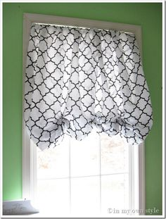 How to Make a No Sew Window Shade Using a Fitted Sheet | In My Own Style
