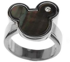 Disney Mickey Mouse Mother-of-Pearl & Crystal Ring