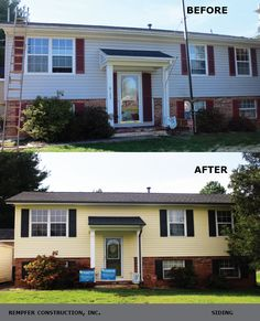 Rempfer Construction, Inc. - Siding Before & After Garage Doors, Construction, Outdoor Decor, Home Decor, Building, Decoration Home, Room Decor, Home Interior Design, Carriage Doors