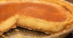 This legendary melktert (milk tart) recipe from 'Ouma' is the one and only -- and simply the best. Tart Recipes, Gourmet Recipes, Healthy Recipes, Curry Recipes, Salted Caramel Fudge, Salted Butter, Salted Caramels, Melktert Recipe, South African Desserts