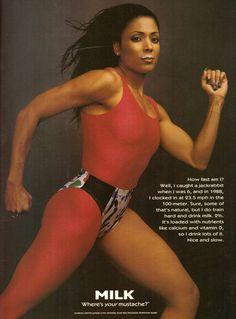 1996 Milk Florence Griffith Joyner Flo-Jo Print Ad Vintage Advertisement VTG 90s   eBay