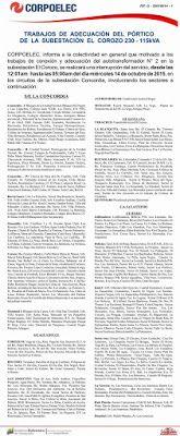 PROTECCIÒN CIVIL TÀCHIRA: Corpoelec informa trabajos de Adecuación en La S/E...