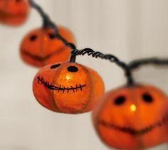 Jack O'Lantern String Light #potterybarn