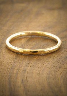 18 karat gold band, melissa joy manning, $490
