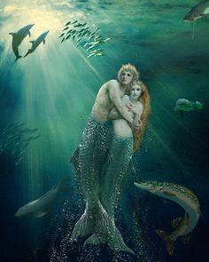 The Mermaid Paintings Gallery; Mermaid Art & Origins of Mermaid folklore: An Art Gallery of Mermaid Paintings, Mermaid Drawings,Digital Mermaid Art&a brief history of the Mermaid Myths. Fantasy Creatures, Mythical Creatures, Sea Creatures, Mermaid Drawings, Mermaid Art, Mermaid Paintings, Mermaid Pics, Vintage Mermaid, World Mythology