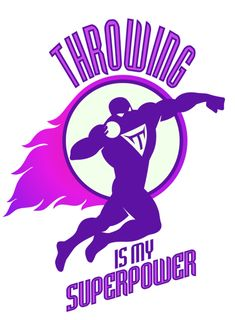 Highland L ion throwing is my superpower rooster in gloves shot put - heavy duty wild track n field ani. Track Quotes, Running Quotes, Sport Quotes, Sports Sayings, Nike Quotes, Running Tips, Cross Country Shirts, Bulldogs Team, Discus Thrower