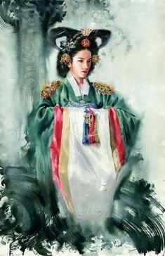 Don't know the artist Portrait Images, Portrait Art, Watercolor Portrait Painting, Korean Art, Drawing Skills, Cool Paintings, Art Studies, Figurative Art, Art Tutorials