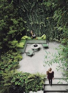 G is for Garden  A beautiful slice of nature in your backyard. Best enjoyed during a quiet spring day.  Photo from Interior Design