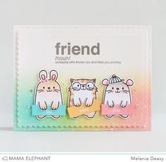 Mama Elephant Stamp Highlight Words Defined