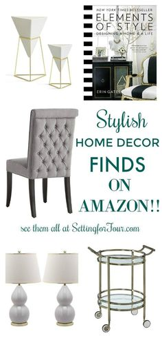 Did you know there is stunning home decor on Amazon like gorgeous bar carts, coffee table books, chic accent chairs and stylish table lamps? I'll show you all the beautiful home decor accents I love to shop for on Amazon and how I save money on shipping!