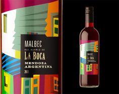 La Boca wine label. I'm into colors and this one pops. Love the design too PD.