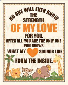 Strength Of My Love, Jungle Theme Nursery, NOJO JUNGLE BABIES, Nursery Art, 8 x 10, Nursery Print. on Etsy, $20.00