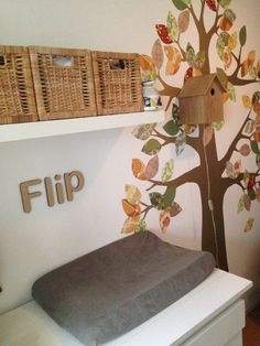 Flip's tree and tree house | baby's room | room for the baby | wooden letters