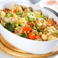 Cheesey seasonal vegetable crockpot