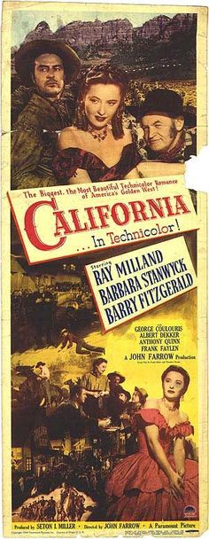 Best Film Posters : 1946 western movie | Re: Californie terre promise (California)-1946- John Villi