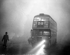 Pea souper that killed So black you couldn't see the screen in cinemas. So suffocatingly lethal they ran out of coffins. How the Great Smog choked London 60 years ago this week Vintage London, Old London, South London, Native American History, British History, London History, London Bus, London City, London Transport
