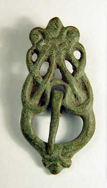 Man's jewellery. A nicely formed belt buckle bronze.  Gotland Sweden.