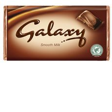 Galaxy Chocolate straight from the fridge