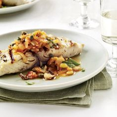 Grilled Fish with Artichoke Caponata // More Fast Fish Recipes: http://www.foodandwine.com/slideshows/fast-fish #foodandwine