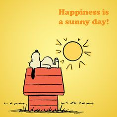 "The Peanuts Gang / Snoopy / ""Happiness is a sunny day""!"