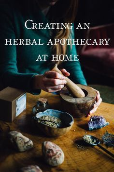 Creating an Herbal Apothecary at Home // Ginger Tonic Botanicals                                                                                                                                                                                 More