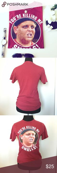 Sandlot Graphic Tee (1 HOUR SALE!) *Sandlot Theme *Burgundy Red color *Gently used, great condition *Size Small *Vintage *Short Sleeve Tee   *If you like the Earrings, they are available in a separate listing for only $6! Sandlot Tops Tees - Short Sleeve